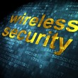 Stock Photo: Protection concept: Wireless Security on digital background