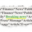 News concept: Breaking News on Paper background — Foto Stock