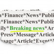 News concept: Breaking News on Paper background — Stockfoto