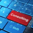 Stock Photo: Business concept: Consulting on computer keyboard background
