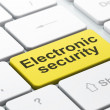 Privacy concept: Electronic Security on computer keyboard background — 图库照片