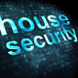 Protection concept: House Security on digital background — 图库照片