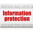 Stock Photo: Privacy news concept: newspaper headline Information Protection