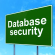 Safety concept: Database Security on road sign background — Stok fotoğraf