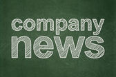 News concept: Company News on chalkboard background — Stock Photo
