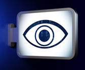 Security concept: Eye on billboard background — Stock Photo