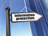 Safety concept: sign Information Protection on Building background — Stockfoto