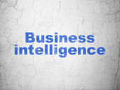 Business concept: Business Intelligence on wall background — Stock Photo