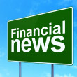 Stock Photo: News concept: Financial News on road sign background