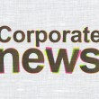 News concept: Corporate News on fabric texture background — Stock Photo