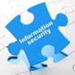 Protection concept: Information Security on puzzle background — Stock Photo