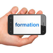 Education concept: Formation on smartphone — Foto de Stock