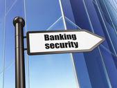 Концепция защиты: подписать банковской безопасности на создание фона — Стоковое фото