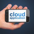 Networking concept: Cloud Application on smartphone — Stock Photo