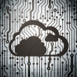 Cloud technology concept: circuit board with Cloud — Stock Photo