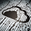 Cloud technology concept: circuit board with Cloud — Foto Stock