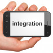 Business concept: Integration on smartphone — Stock Photo