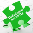 Stock Photo: Privacy concept: Database Security on puzzle background