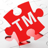 Law concept: Trademark on puzzle background — Stock Photo