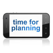 Timeline concept: Time for Planning on smartphone — Stock Photo