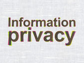 Privacy concept: Information Privacy on fabric texture background — Photo