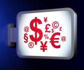 Marketing concept: Finance Symbol on billboard background — Stock Photo