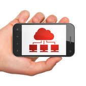 Cloud computing concept: Cloud Network on smartphone — Stock fotografie