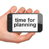 Time concept: Time for Planning on smartphone — Stock Photo