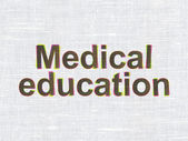 Education concept: Medical Education on fabric texture background — Stockfoto