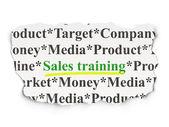 营销理念: 纸张背景上的销售培训 — 图库照片