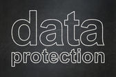 Safety concept: Data Protection on chalkboard background — Stock Photo
