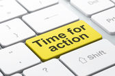 Timeline concept: Time for Action on computer keyboard background — Stock Photo