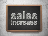 Advertising concept: Sales Increase on chalkboard background — Stockfoto