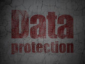 Concetto di sicurezza: protezione dei dati su sfondo muro grunge — Foto Stock