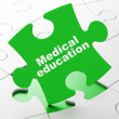 Education concept: Medical Education on puzzle background — Stockfoto