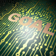 Stock Photo: Marketing concept: circuit board with Goal