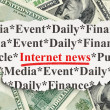 News concept: Internet News on Money background — Stock Photo