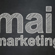 Advertising concept: Mail Marketing on chalkboard background — Stock Photo #35424071