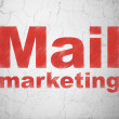 Stock Photo: Advertising concept: Mail Marketing on wall background