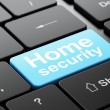 Safety concept: Home Security on computer keyboard background — Stock Photo