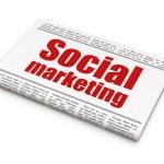 Marketing news concept: newspaper headline Social Marketing — Stock Photo #35425125
