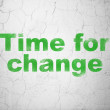Timeline concept: Time for Change on wall background — Stock Photo #35425359