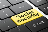 Security concept: Social Security on computer keyboard background — Stock Photo