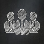 Finance concept: Business People on chalkboard background — Photo