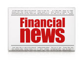 News news concept: newspaper headline Financial News — Photo