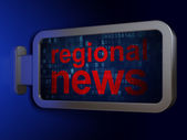 News concept: Regional News on billboard background — Stock Photo