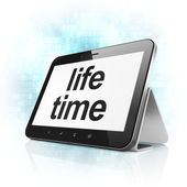 Time concept: Life Time on tablet pc computer — Stock Photo