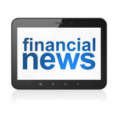 News concept: Financial News on tablet pc computer — Stock Photo
