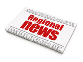 News news concept: newspaper headline Regional News — Foto de Stock