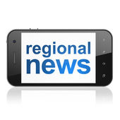 News concept: Regional News on smartphone — Stock Photo
